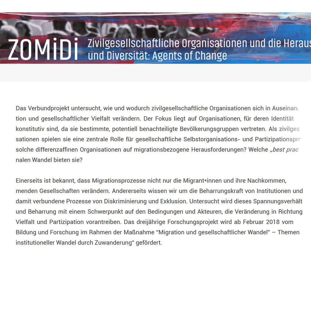 New Research Project ZOMiDi