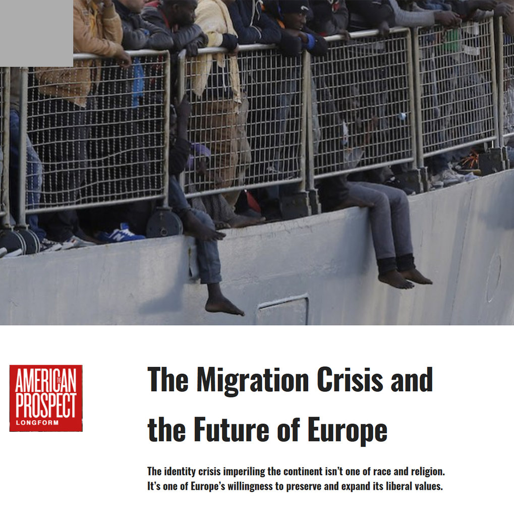 "Georg Diez: ""The Migration Crisis and the Future of Europe"""