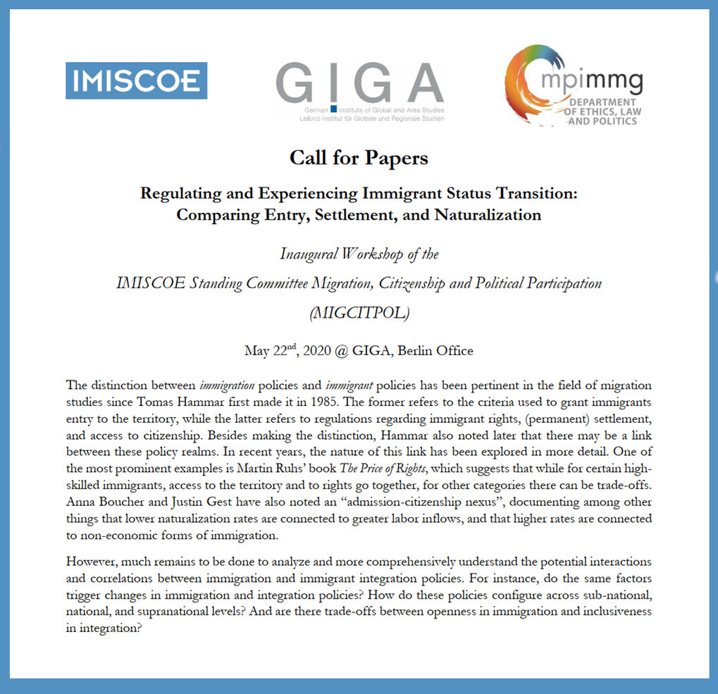 Regulating and Experiencing Immigrant Status Transition: Comparing Entry, Settlement, and Naturalization