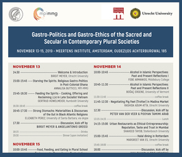 """Gastro-Politics and Gastro-Ethics of the Sacred and Secular in Contemporary Plural Societies"""