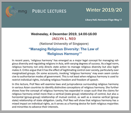 """Managing Religious Diversity: The Law of 'Religious Harmony'"""